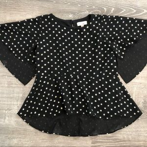 Gb girls black and gold blouse
